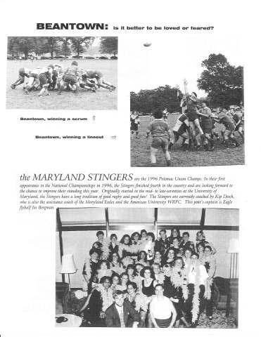 Ruggerfest 1997 Program - Beantown & MD Stingers