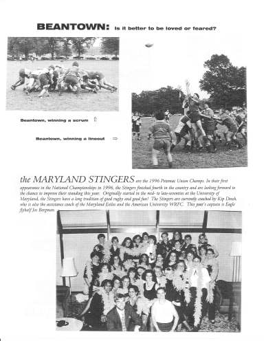 Ruggerfest 1997 Program - Beantown & MD Stingers